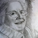 Mum in pencil