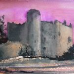 Laugharne Castle watercolour