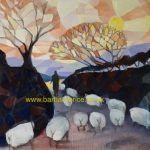 466 'drover and sheep' oil